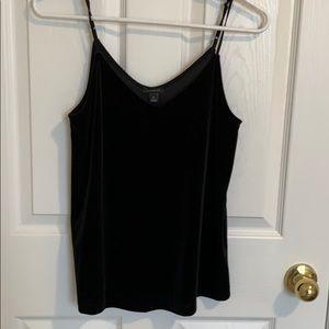 Ann Taylor Black Velvet Camisole XS